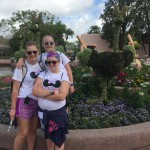 We were at Epcot during the Spring Festival of Flowers - so many beautiful topiaries and floral structures